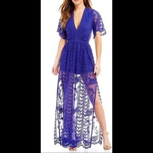 GB Gianni Bini cobalt blue maxi dress